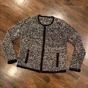 Knit St. John? Full Zip Cardigan Sweater Pockets